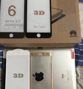 3d Стекла на iPhone 6,7 и Samsung s6