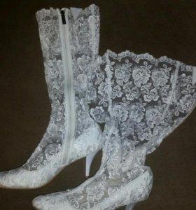 Свадебные сапожки р.39-40