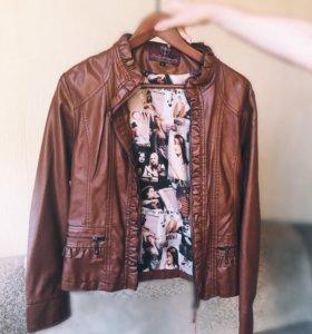 Куртка новая( кожзам)