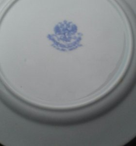 Тарелка кузнецов стариная 19 век царизм блюдо стар