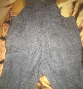 Для новорождённых Комбинезон джинсовый