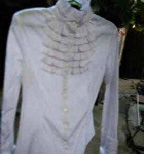 Блузка белая стрейчивая
