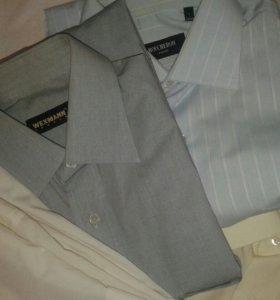 Рубашки муж. с длинным рукавом новые