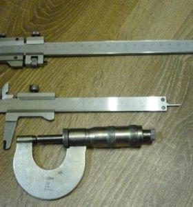 штангенциркули, микрометр, стойка индикаторная
