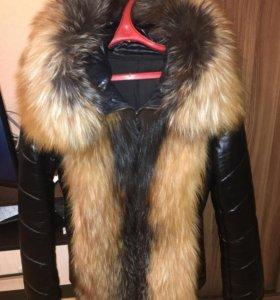 Кожаная куртка с лисой