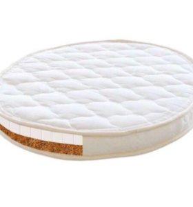 Матрас в круглую кроватку