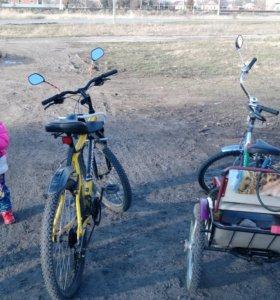 Взрослый трехколесный велосипед (прогулки, рыбалка