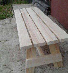 Скомейки , столы для бани из осины