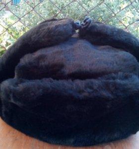 Шапка ушанка черного цвета новая