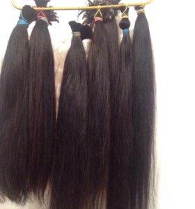 Натуральные волосы в срезе