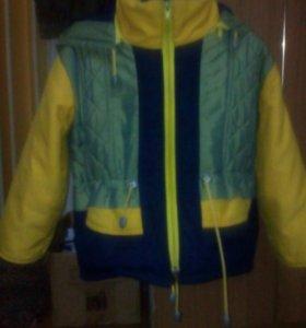 Куртка детская,утепленная+комбинезон на синтепоне