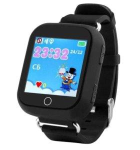 Q750 детские смарт часы (чёрные)