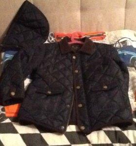 куртка для осени тёмно синия