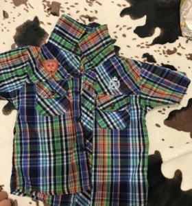 Рубашки , шорты новые детские для мальчиков