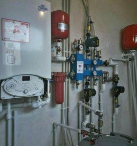 Монтаж систем отопления .