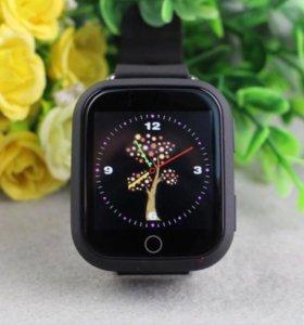 Детские smart часы (чёрные) q750