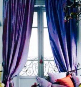 Шторы на окно портьерные готовые новые