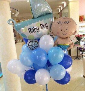"""Воздушные шары,гелиевые шары на выписку """"Малыш"""""""