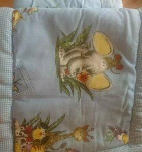 Обкладки на кроватку для малыша + балдахин