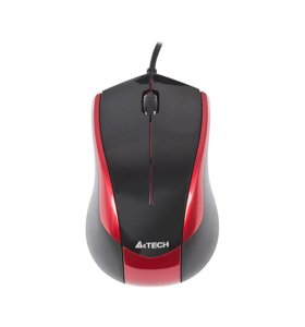 Мышь A4Tech N-400-2 Red-Black