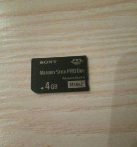 4GB карта памяти SONY