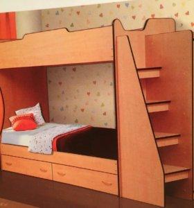 Кровать двухъярусная М-2