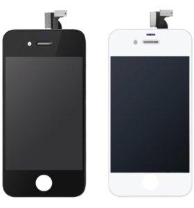 Дисплей для IPhone 4S ориг с перекленным стеклом