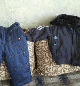 Куртка адидас и тёплый полукомбинезон