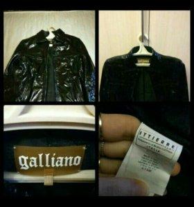 Куртка кожаная, новая, бренд Galliano,