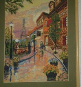 Картина вышивка 50х35 см.