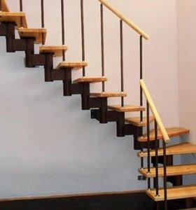"""Модульная лестница """"Стадио"""" для дома"""