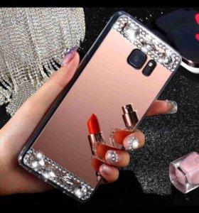 Зеркальный чехол на iPhone 5,5c,5s