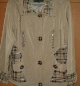Куртка ветровка на подкладке, размер 48.