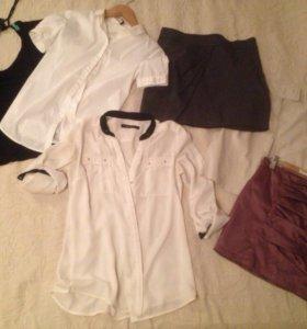 Рубашки, юбки, блузы Benetton Reserved