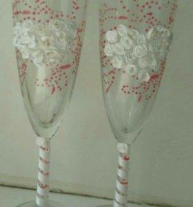 Новые свадебные бокалы