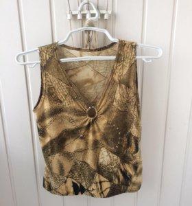 Трикотажная блуза безрукавка