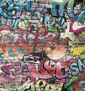 Обои граффити в детскую