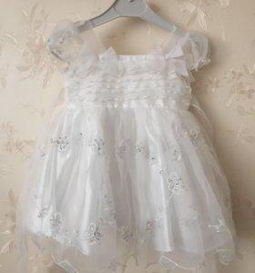 Белое нарядное платье для маленькой принцессы 👸🏻