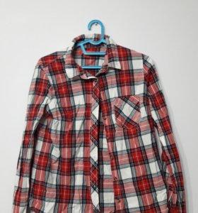 Красная клечатая рубашка остин