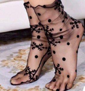 Носки кружевные