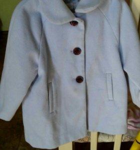 Кашемировое пальто для девочки 1,5 -2х лет