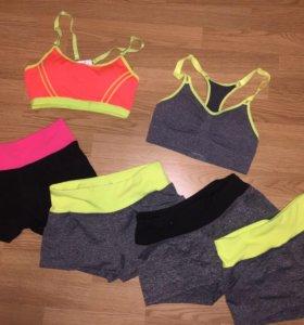 Новые спортивные шорты, топы