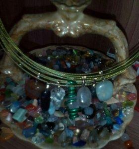 Кулон-талисман,оберег, амулет с природным камнем