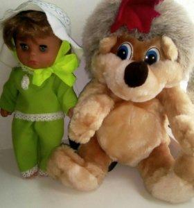 Пакет игрушек Кукла Даша с рюкзаком