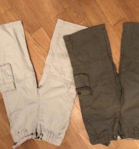 Штаны и джинсовый комбинезон р86