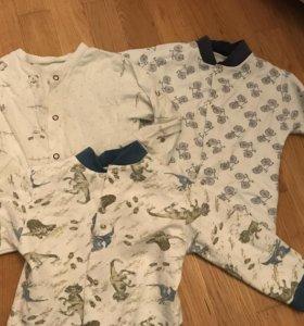 Футболки, кофты,песочник для мальчика р86