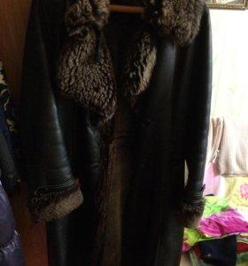 Пальто зимнее,мех настоящий