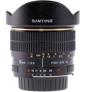 Объектив Рыбий глаз SAMYANG 8 mm f/3.5 для Sony A