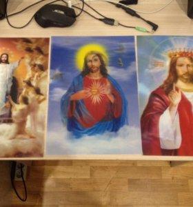 Голографические картинки с ликами святых