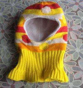 Зимняя шапка-шлем от 9 мес